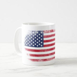 Hanging American Flag    USA Patriotic Design Coffee Mug