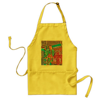 Hanging Angel Metal Art Chili Peppers Painted Frog Adult Apron