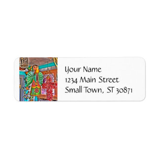 Hanging Angel Metal Art Chili Peppers Painted Frog Return Address Label