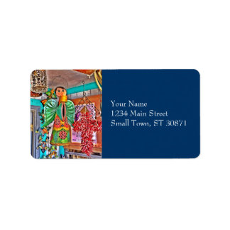 Hanging Angel Metal Art Chili Peppers Painted Frog Address Label