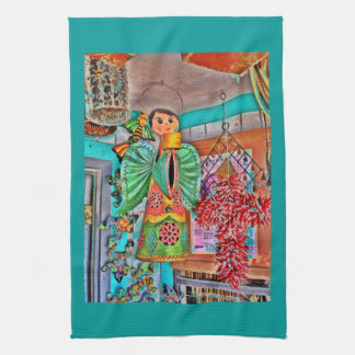 Hanging Angel Metal Art Chili Peppers Painted Frog Towel