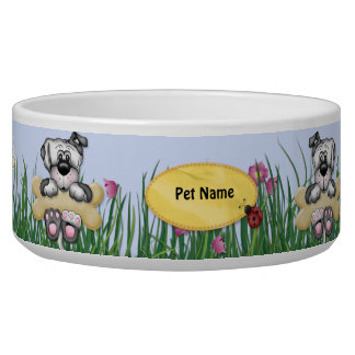 Hanging Around Dogs - Customize Name Bowl