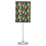 Hanging art deco accent Lamp light up color burst