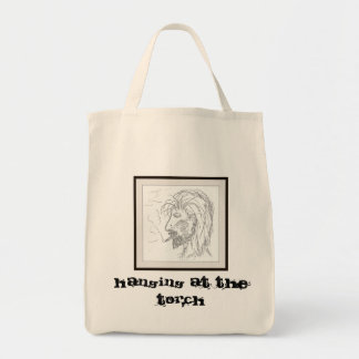 Hanging at The Torch Tote Bag