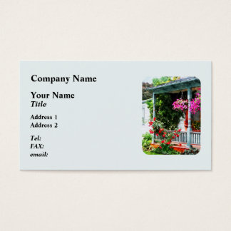 Hanging Baskets and Climbing Roses Business Card
