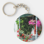 Hanging Baskets and Climbing Roses Keychains