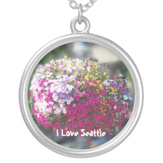 Hanging Baskets Round Pendant Necklace
