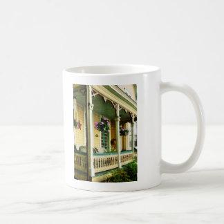 Hanging Baskets on Porch Coffee Mug
