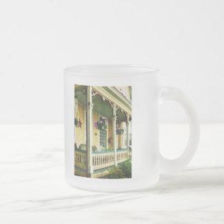 Hanging Baskets on Porch Coffee Mugs
