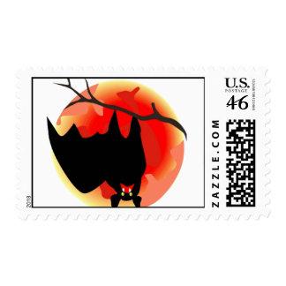hanging bat stamp