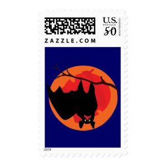 Hanging Bat Postage Stamp