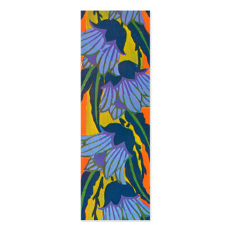 Hanging Blue Flowers Mini Business Card