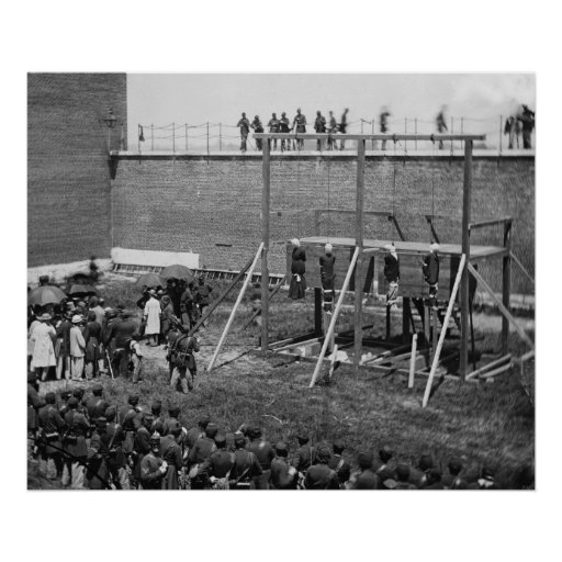 Hanging Bodies of Lincoln Conspirators, 1865 Posters