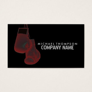 Hanging Boxing Gloves, Solarize Effect, Boxing Business Card