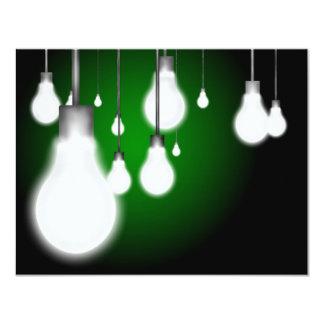 Hanging bulbs 4.25x5.5 paper invitation card