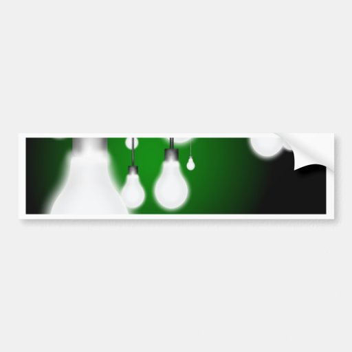 Hanging bulbs bumper stickers