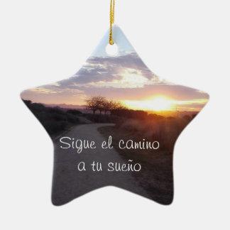 Hanging ceramic star ceramic ornament