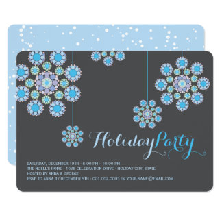 Hanging Christmas Ornaments Holiday Party Invite