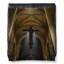 Hanging Crucifix Drawstring Backpack