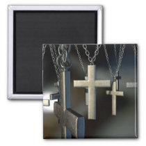Hanging Crucifixes Close Magnet