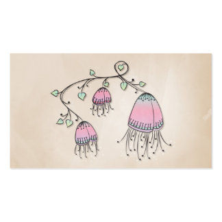 Hanging Doodle Flowers Business Cards