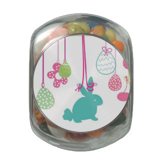Hanging Easter Ornaments Glass Jars