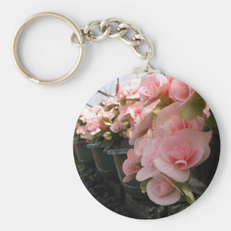 Hanging flower baskets key chains