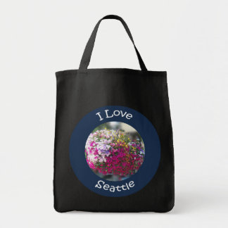 Hanging Flowers Circle Canvas Bags