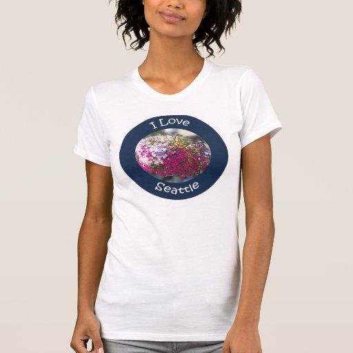 Hanging Flowers Circle Tee Shirt