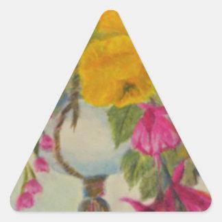 hanging flowers.jpg triangle sticker