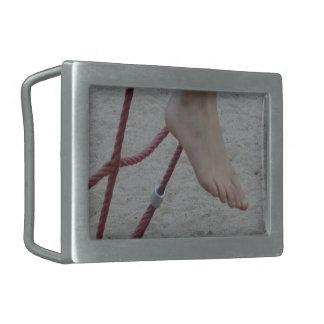 hanging foot climbing frame feet playground sand rectangular belt buckle