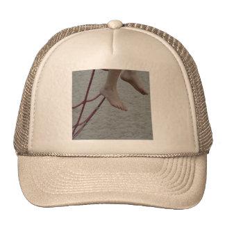 hanging foot climbing frame feet playground sand trucker hat