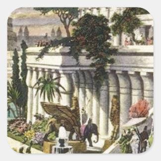 Hanging Gardens of Babylon by Maerten van Heemsker Square Sticker