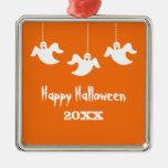 Hanging Ghosts Halloween Ornament, Orange