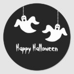 Hanging Ghosts Halloween Stickers, Black