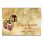 Hanging Gifts Christmas Card