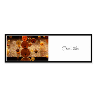 Hanging Glass Beads Double-Sided Mini Business Cards (Pack Of 20)