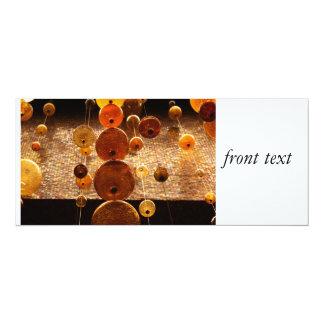 "Hanging Glass Beads 4"" X 9.25"" Invitation Card"
