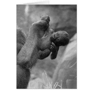 Hanging Gorilla Baby Card