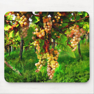 Hanging Grapes on the Vines Mouse Pad