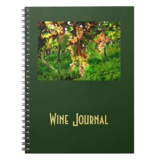 Hanging Grapes on the Vines Spiral Note Books
