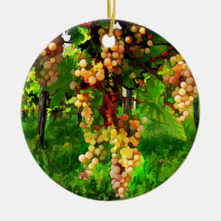 Hanging Grapes on the Vines Christmas Tree Ornaments