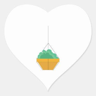 Hanging Greenery Heart Sticker