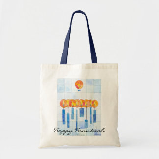 Hanging Hannukah Candles Tote Bag