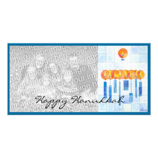 Hanging Hanukkah Candles Card