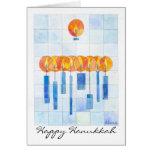 Hanging Hanukkah Candles Cards