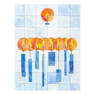 Hanging Hanukkah Candles Postcard