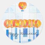 Hanging Hanukkah Candles Sticker