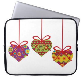 Hanging Heart Ornaments Laptop Sleeve