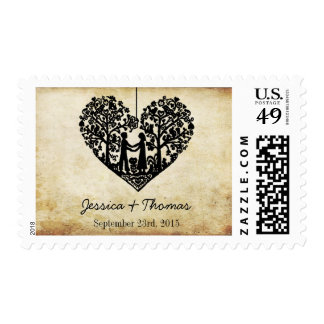 Hanging Heart Tree Vintage Wedding Collection Postage